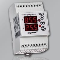 Терморегулятор DigiTOP ТК-6 двухканальный с 2-мя датчиками t